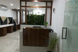 Our Reception desk at Kharadi, Pune